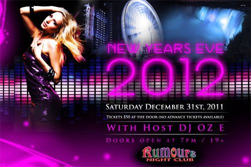Rumours Nightclub presents New Years Eve 2012