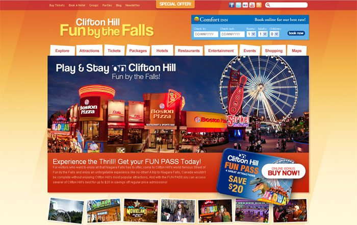 Clifton Hill Niagara Falls Launches New Official Website and Online Fun Pass