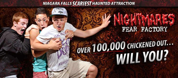 Visit Nightmares Fear Factory this Halloween!