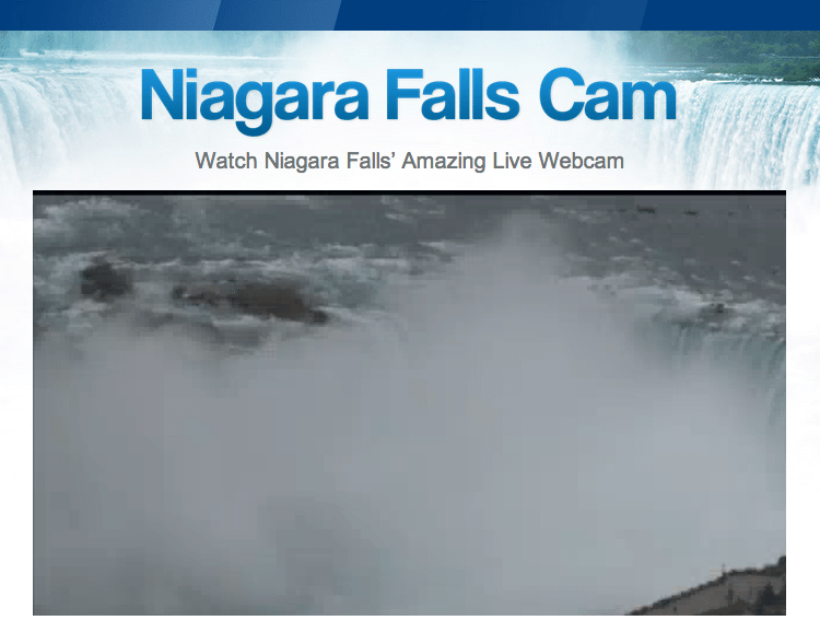 New Niagara Falls Webcam Generates over 1,000,000 Hits from Russia!