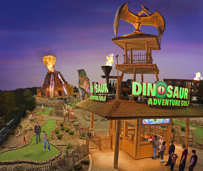 Dinosaur Adventure Golf mini putt in Niagara Falls