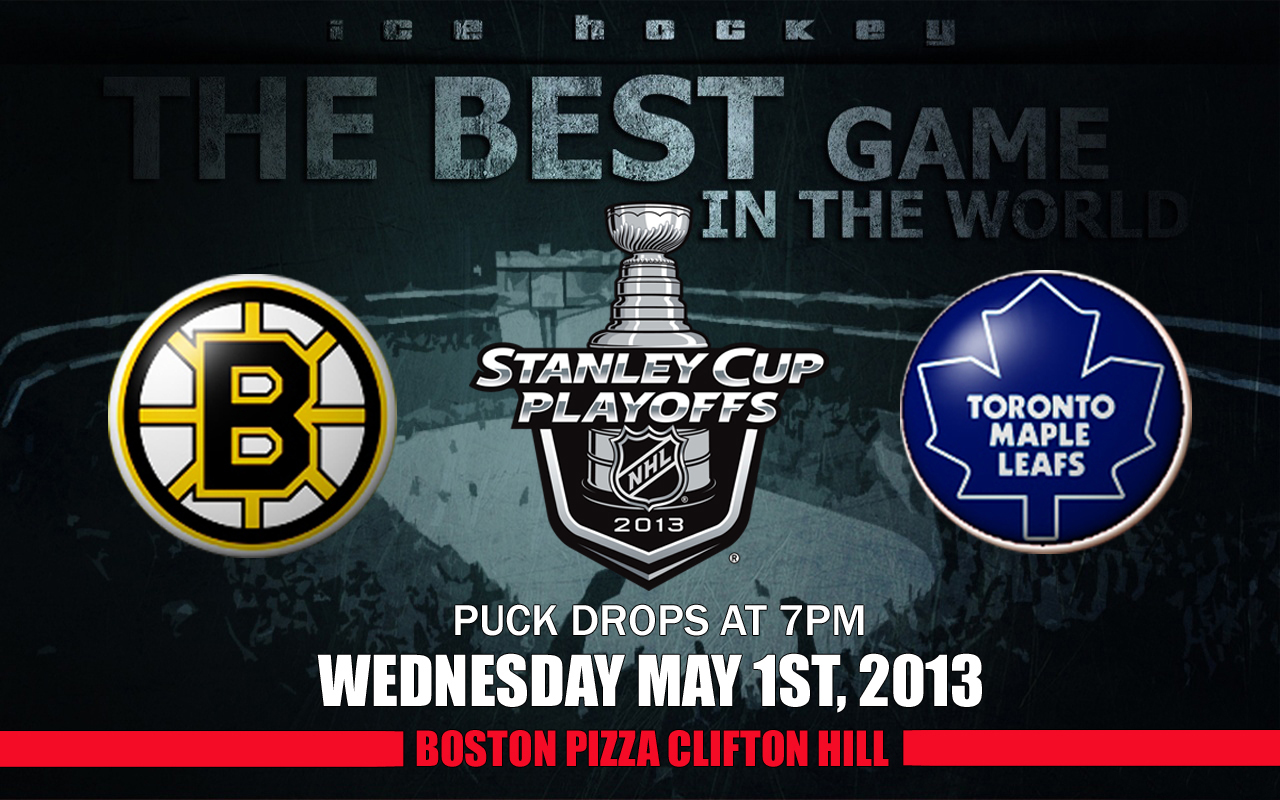 Catch the NHL Playoff 2013 action at Boston Pizza Clifton Hill in Niagara Falls!