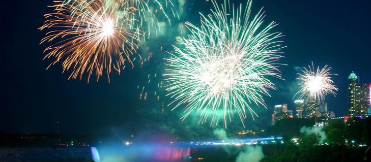 Niagara Falls Hotel Deals and fireworks