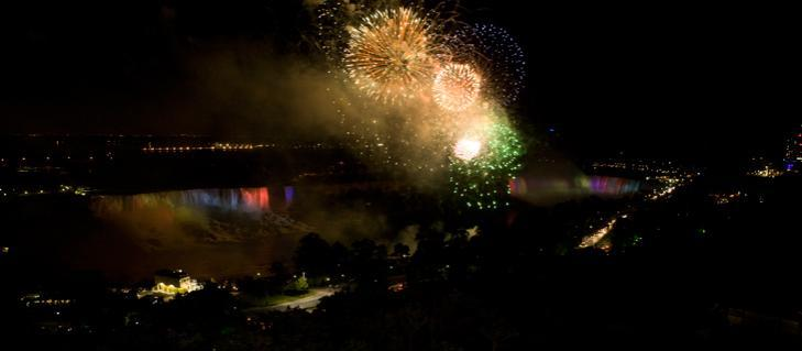 firework attractions in Niagara Falls