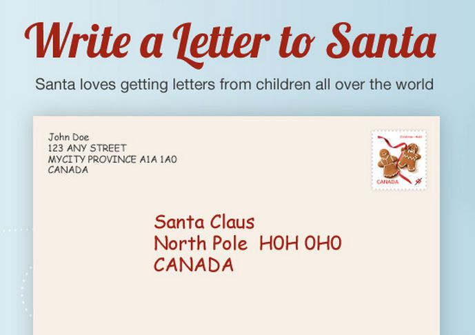 send a letter to santa envelope from the pole search results calendar 2015 14134