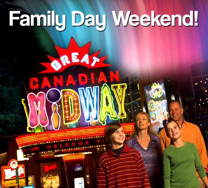 Enjoy Family Day weekend, Mid Winter Break at Clifton Hill in Niagara Falls