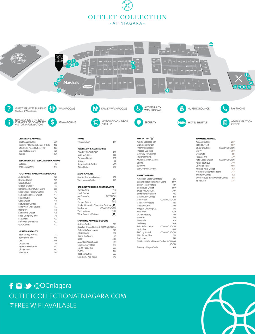 niagara falls outlet mall map Outlet Collection At Niagara Newest Information niagara falls outlet mall map
