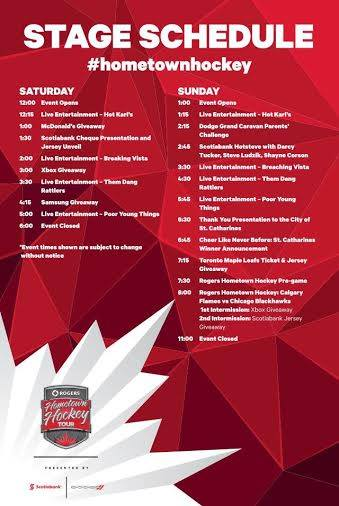 Rogers Hometown Hockey Schedule