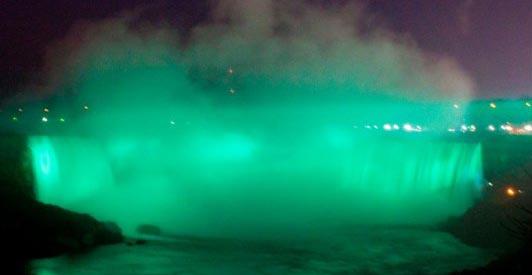 Niagara Falls on St. Patrick's Day