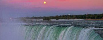 Sunrise and sunset on the Niagara Falls