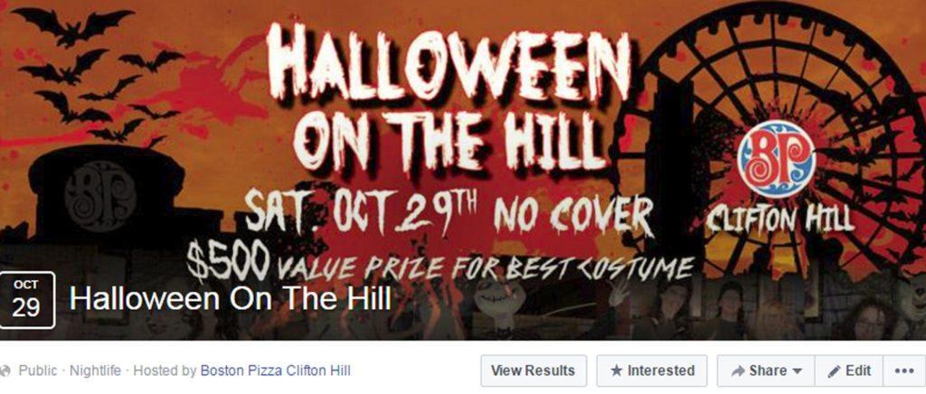 Boston Pizza Clifton Hill Halloween