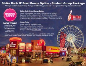 Niagara Falls student group packages