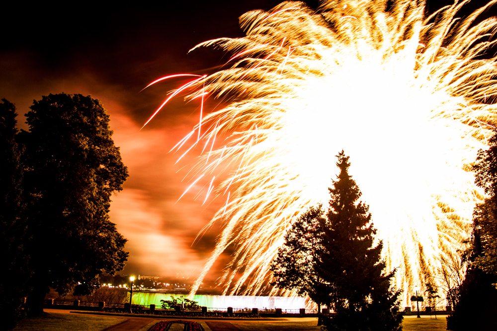 Niagara falls fireworks schedule 2020