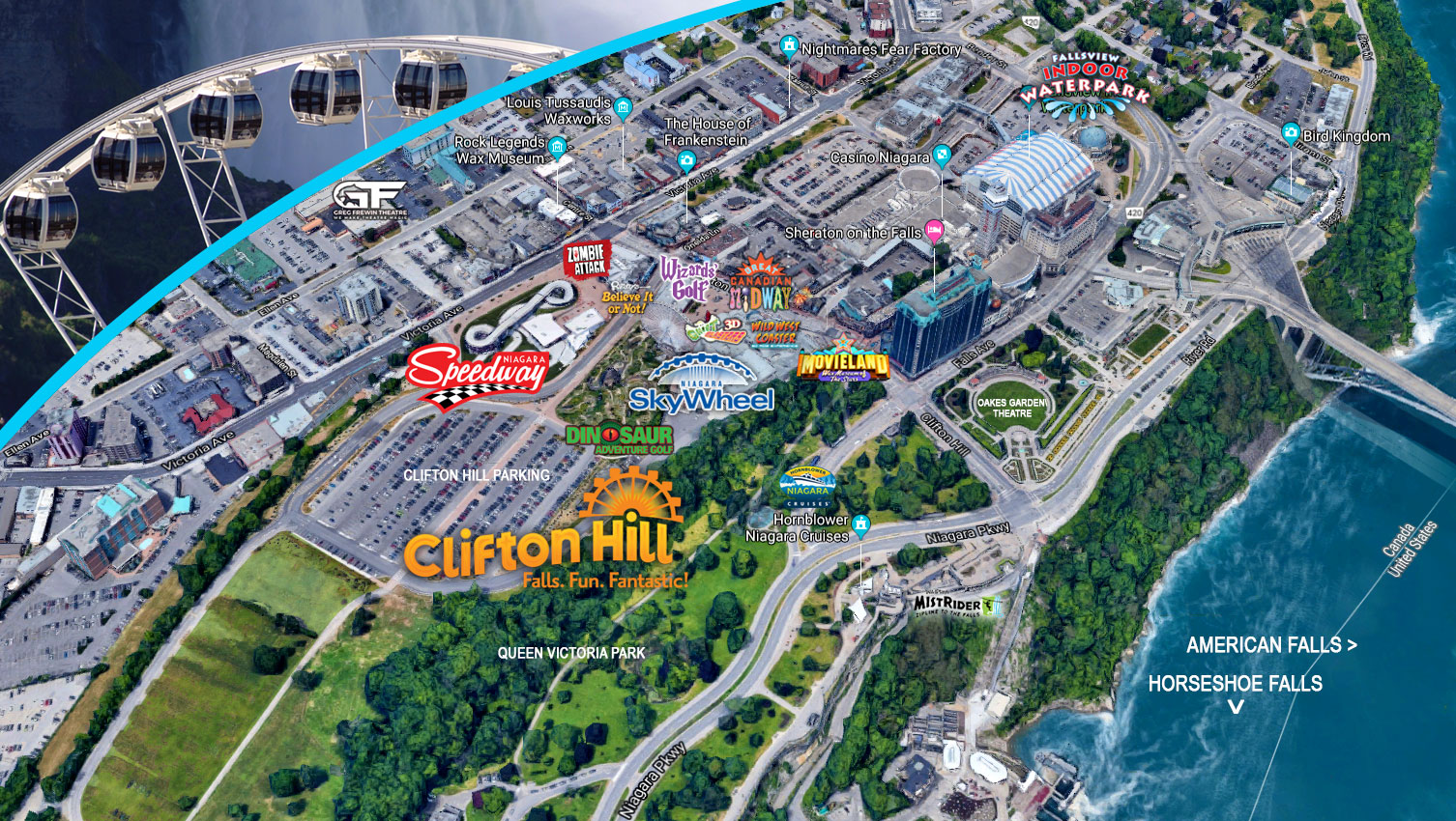 World Class Attractions Within A Block of Clifton Hill!