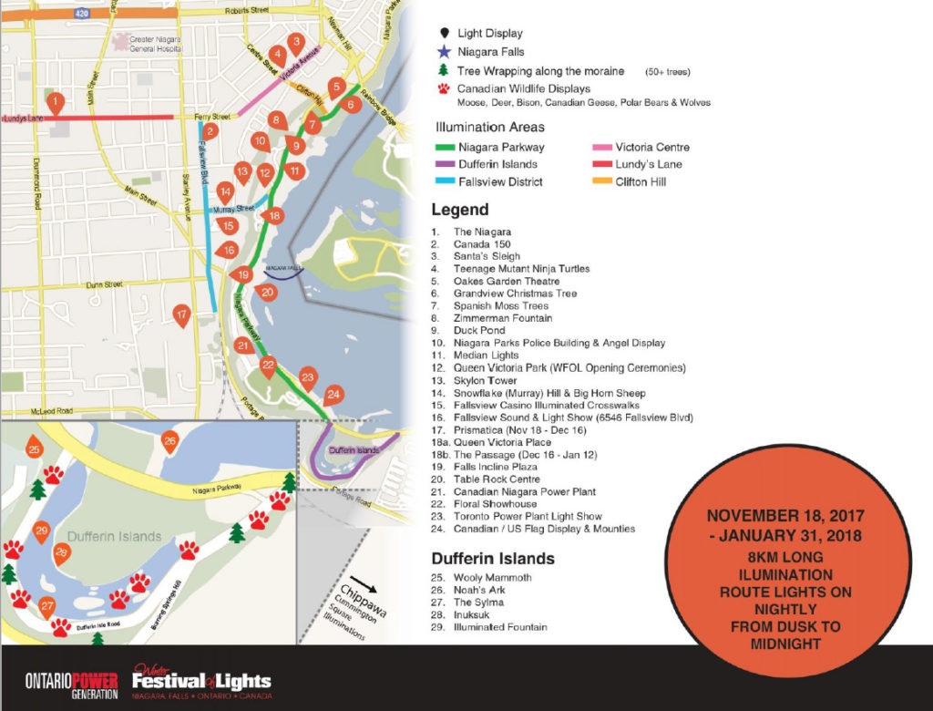 Winter Festival of Lights in Niagara Falls on map of amherstburg canada, map of p.e.i. canada, map of frederick canada, map showing niagara falls, map of grimsby canada, map of bancroft canada, map of dundas canada, map of myrtle beach, map of essex canada, map of goose bay canada, map of manitoulin island canada, map ontario canada, map of caledon canada, map of muskoka canada, map of chicago canada, map of sault ste marie canada, map of north western canada, map of gaspe canada, map of valleyfield canada, map of new york,