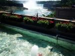 Viewing the Niagara Falls from the Hornblower Plaza
